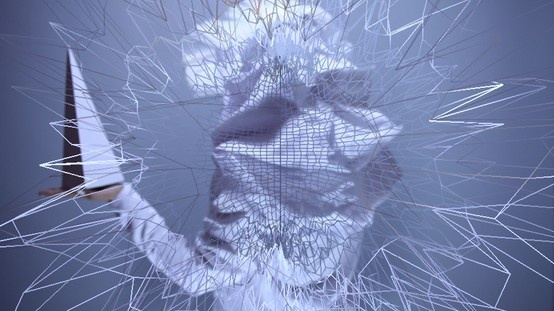 """freeze frame"" of vj Emiko's visuals"