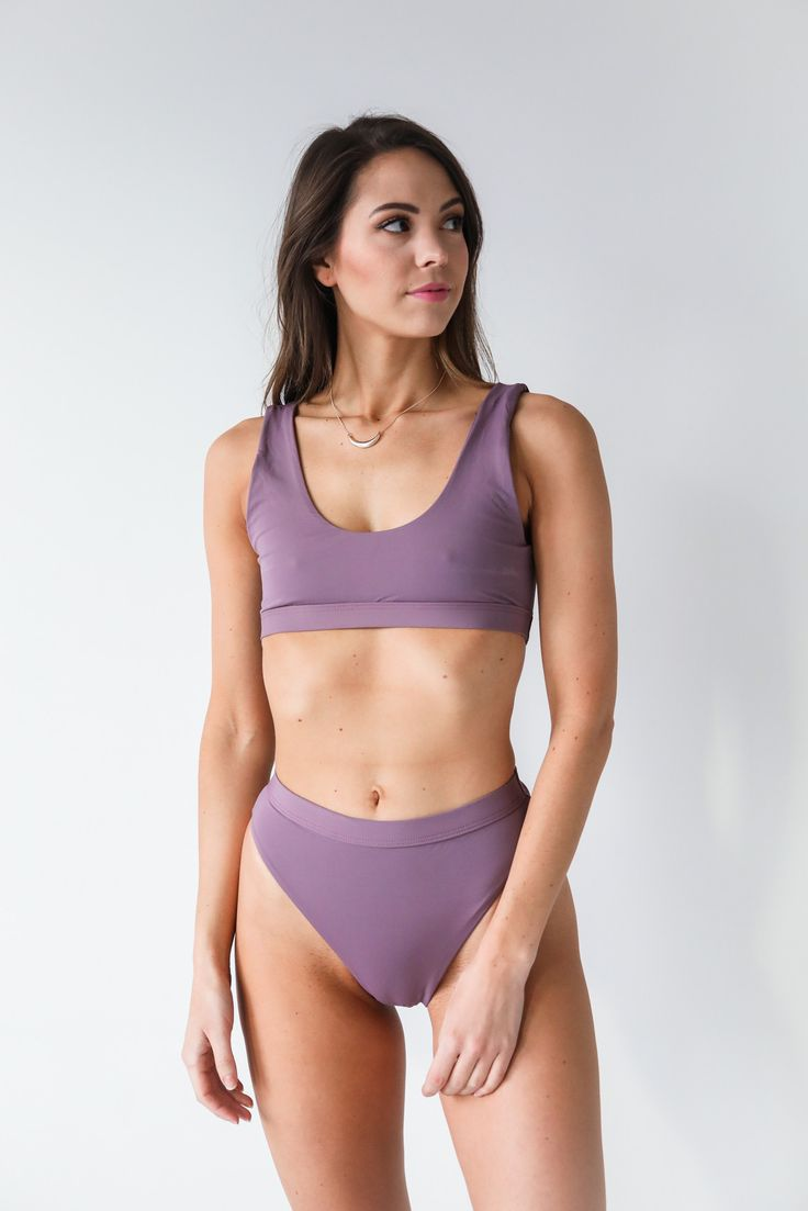 This bikini is similar to the 1980's bikini. Both simple, and have high waisted bottoms with sides that rise up to the hip showing off more skin. You would also see an outfit like this with leggings and leg warmers to workout in. Bikinis in the 80's showed off more skin than any other decade.