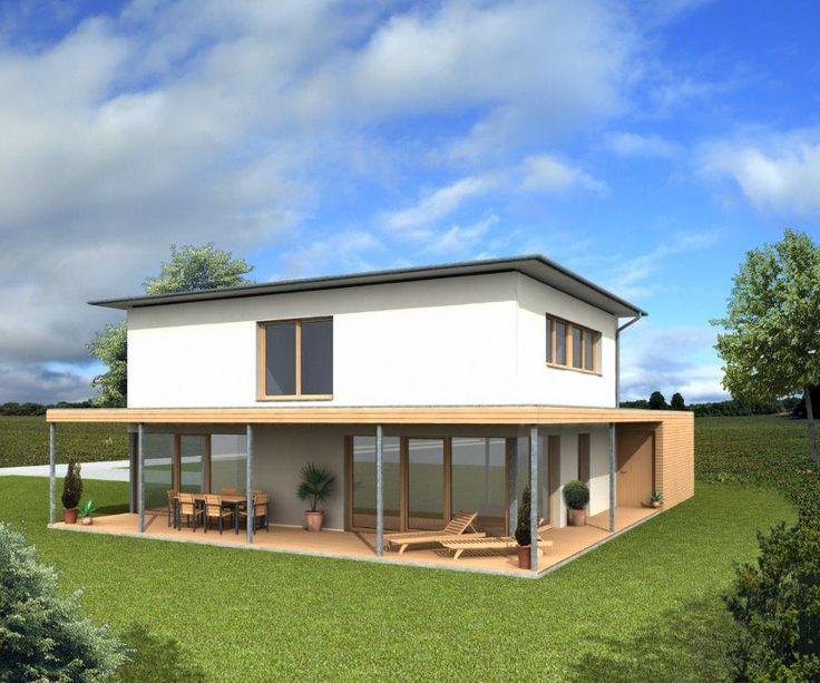 Bildergebnis f r walmdach garage flachdach pinterest for Haus modern flachdach