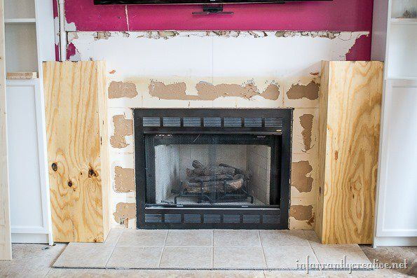 How to build a corner fireplace surround woodworking for Building a corner fireplace
