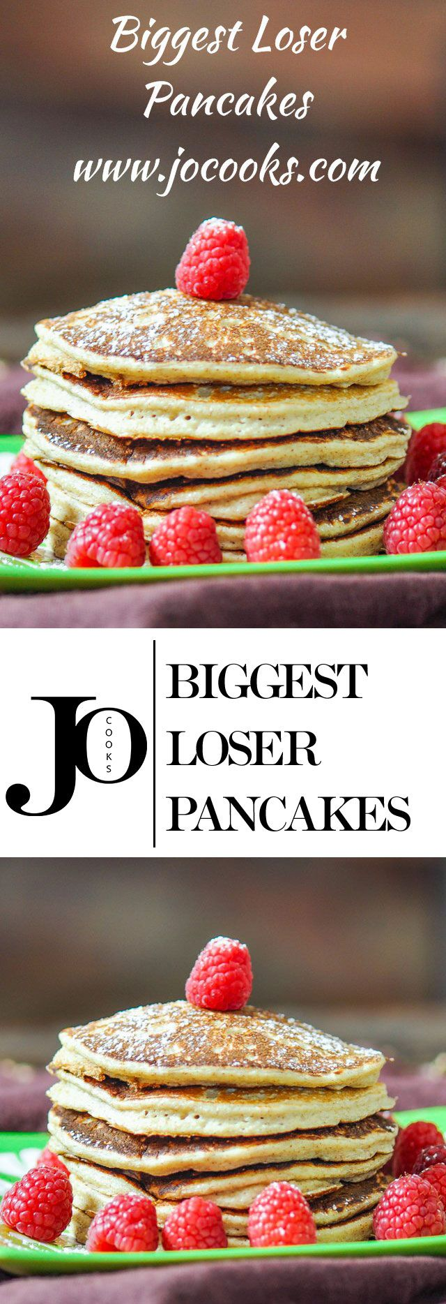 Biggest Loser Pancakes - you won't believe the ingredients and you won't believe how good they are at only 220 calories for 3 pancakes.