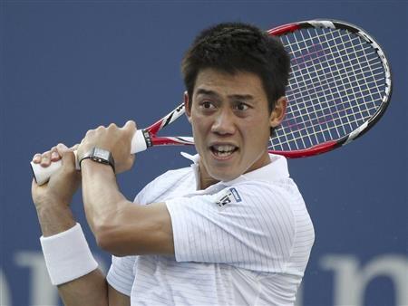 第3セットと第4セット見たけど、離されそうになっても崩れないタフなプレーがすごかったです!(^∇^)---Miki   錦織圭、日本男子96年ぶり4強!フルセットの末、全豪覇者を倒す/全米テニス(8)