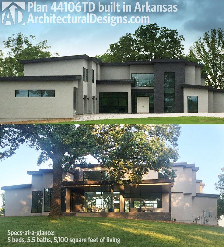 De 194 B Sta Modern House Plans Bilderna P Pinterest