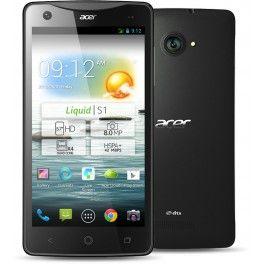 "Acer Liquid S1  GSM/GPRS/EDGE/HSPA+ - 850/900/1800/1900 MHz, MediaTek MT6589T ARM Quad Core Cortex-A7 (1.5 GHz), 1GB RAM, 8GB Flash, 14.478 cm (5.7 "") 1280 x 720, 802.11 b/g/n, Bluetooth 4.0 LE, 195g, Negro, Android 4.2.2"