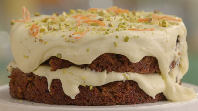 carrot cake Heel Holland Bakt Annemarie recipe from 1st challenge