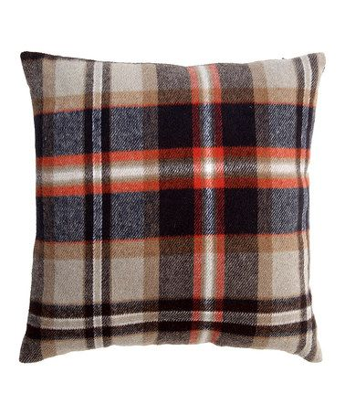 Another great find on #zulily! Red & Gray Plaid Throw Pillow #zulilyfinds