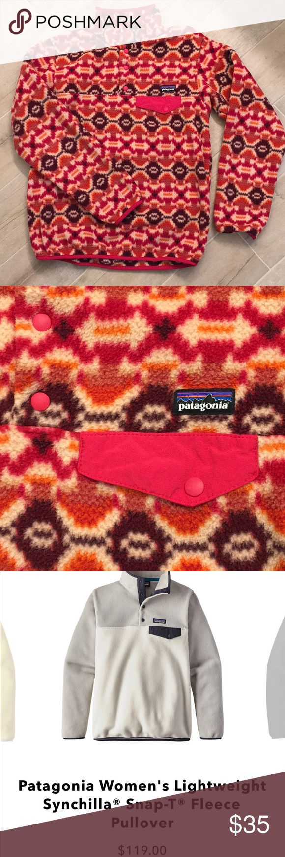 Patagonia Synchilla Snap T Pullover Super cozy. Bright and cheerful colors. Perfect condition. Just cleaning out my closet. Patagonia Jackets & Coats