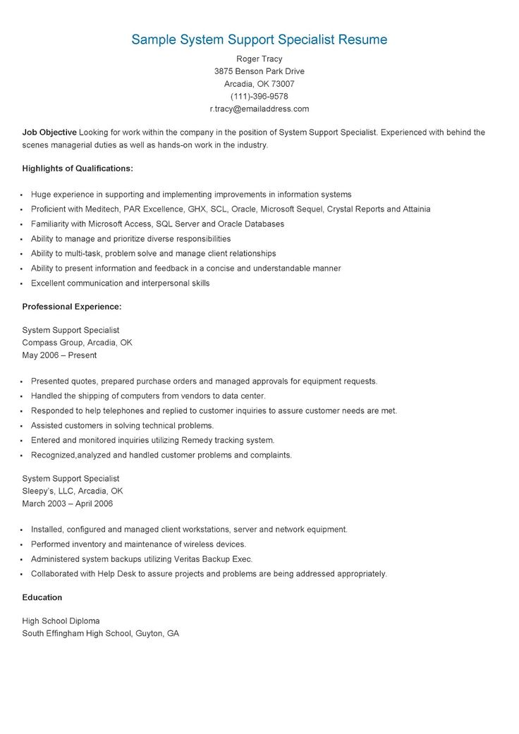 235 best resame images on Pinterest Website, Sample resume and - Treasury Specialist Sample Resume