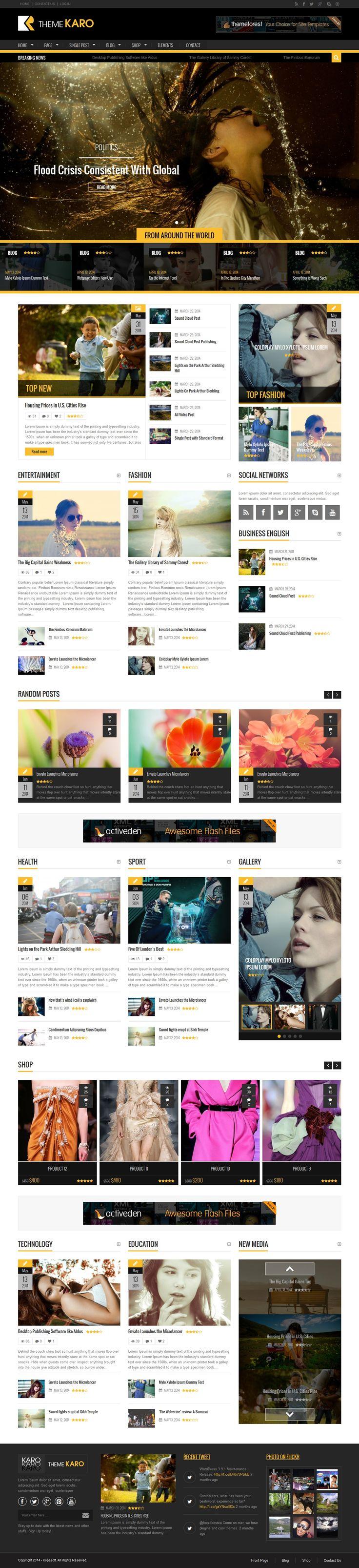 Karo - Magazine WordPress theme #magazine #newspaper #design