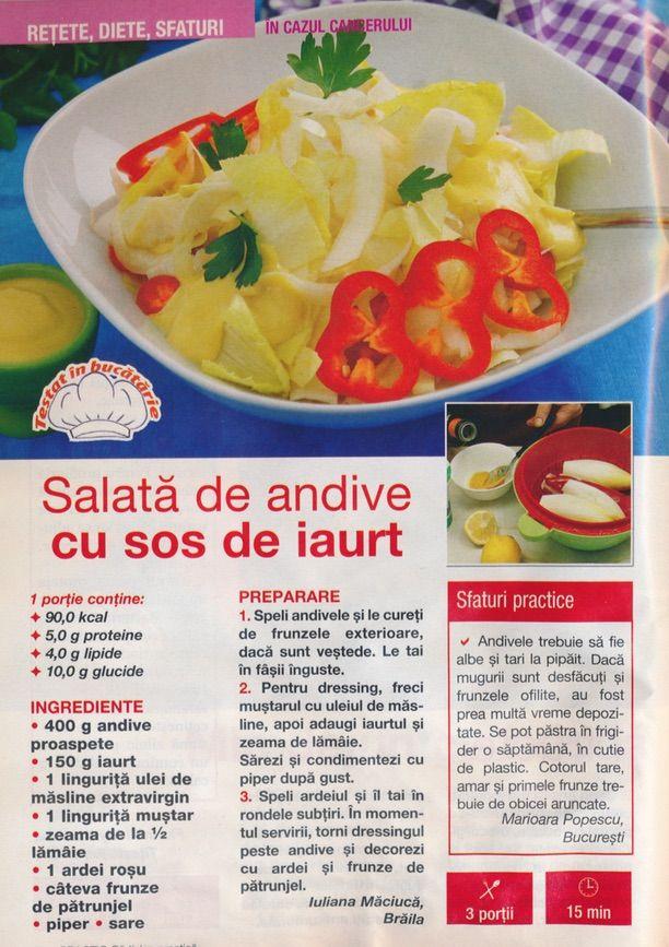 Salata de anive cu sos de iaurt