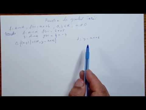 Functia de gradul I - Algebra - Clasa a IX-a - 090401-01