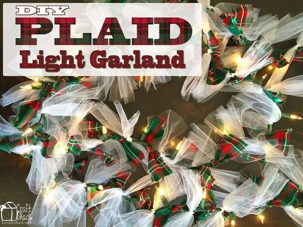 transform an ordinary string of lights into a lighted garland, christmas decorations, crafts, seasonal holiday decor