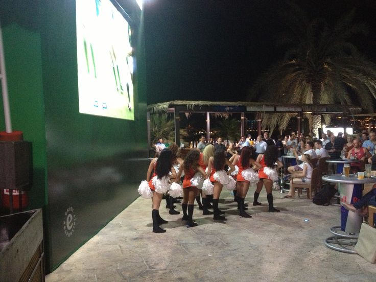 The Aggreko Dynamos at #Barasti in the build up to the 2012 Emirates Airline Dubai Rugby Sevens #AggrekoDynamos #Cheerleaders #Dubai7s