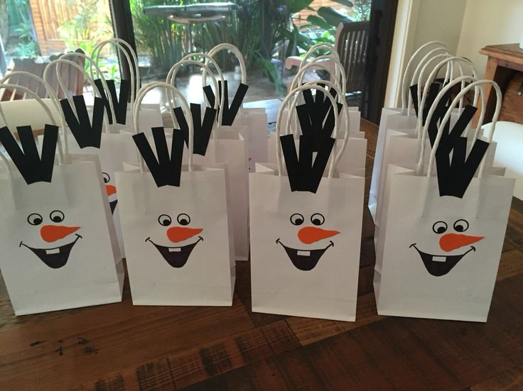 Olaf Lolly Bags Made by Mandy Clouten
