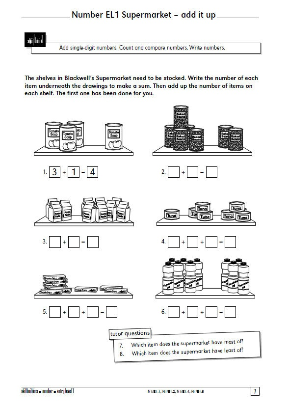 15 best images about Special Education Functional Math on – Functional Math Worksheets