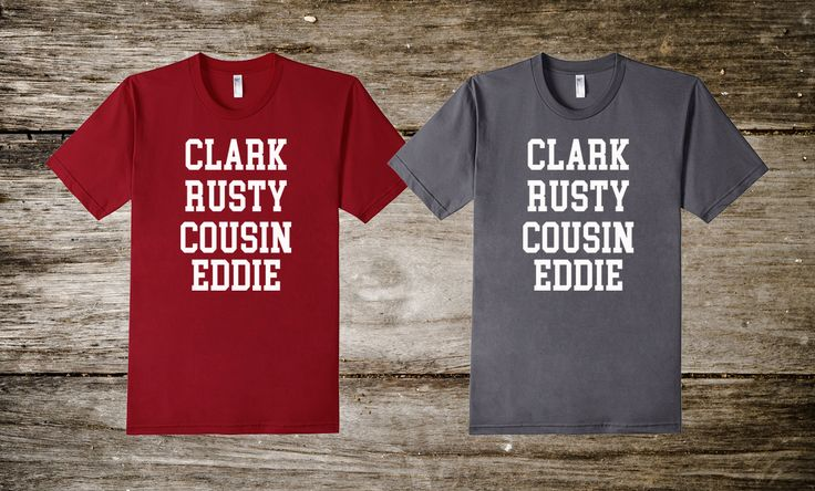 It's a Christmas Vacation and the whole gang of Griswolds are invited: Clark, Rusty, and of course Cousin Eddie! Celebrate the holidays with this great t-shirt.
