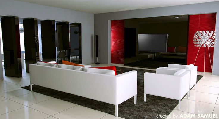Stunning Colorfully Inspirational Living Rooms On Living Room With Black  Red White Living Room Interior Decor By Johnny West Plans