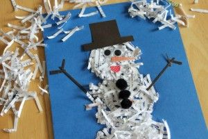 shreddy the snowman - from Marie @makeandtakes on Momformation.com: Shredded Snowman, Paper Shredder, Snowman Crafts, Art, Snow Crafts Kids, Shredded Paper Snowman, Holiday Crafts, Christmas Ideas, Winter Snowman