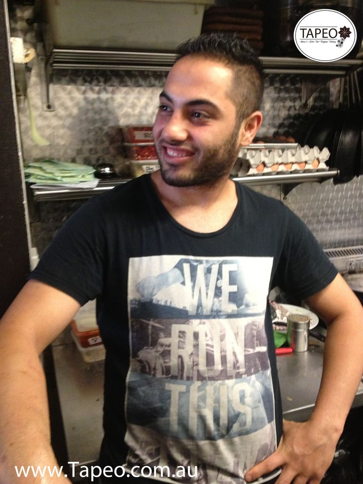 MEET THE TEAM: Meet Sina, our resident funnyman in the kitchen, serving up dishes & jokes at Tapeo: :82 Redfern St Redfern http://www.Tapeo.com.au FB: http://www.FB.com.tapeo.au #tapeo #tapeocafe #tapeoredfern #redfern #sydneycafe #sydney #cafe #restaurant