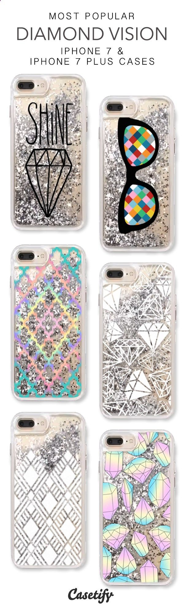Most Popular Diamond Vision iPhone 7 Cases & iPhone 7 Plus Cases. More liquid glitter iPhone case here > www.casetify.com/...