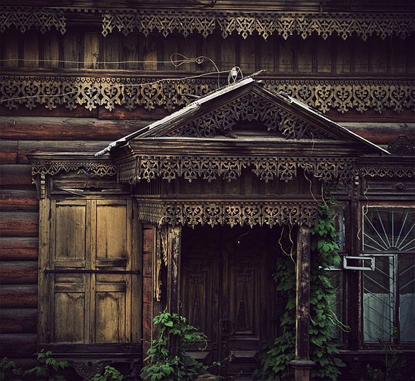 The ornate woodwork like this that was on the old houses in Irkutsk, Siberia, made the gruelingly-long Trans-Mongolian train trip from Beijing to Moscow almost worth it.