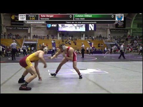 Tyler Berger (Nebraska) vs Colston DiBlasi (Iowa State) -  Midlands WRestling Tournament