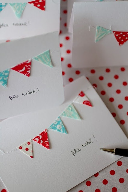 Cute! Bunting Christmas cards