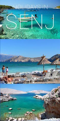 Senj (Kvarner, Croatia) is located in Croatian region Kvarner, in the bottom pf mountain Velebit. : #senj