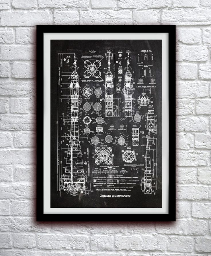 Soviet Rocket Schematics - Space Decor - Patent Print Poster Wall Decor - 0106 (8.00 USD) by thepatentoffice