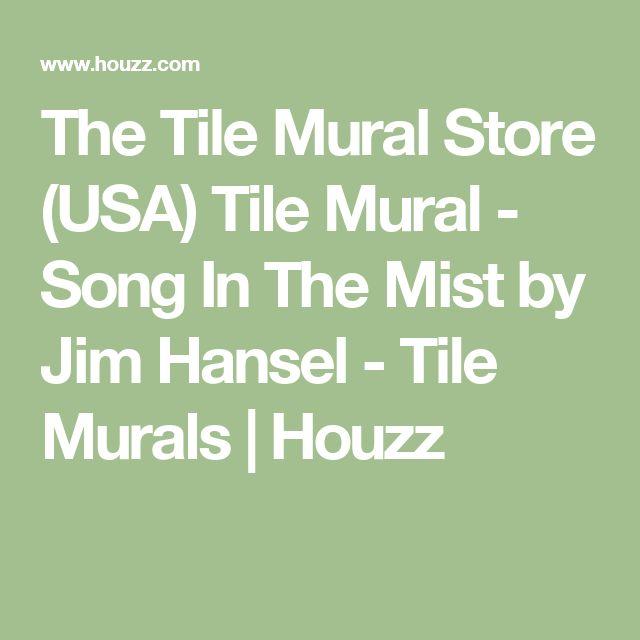 The Tile Mural Store (USA) Tile Mural - Song In The Mist by Jim Hansel - Tile Murals | Houzz