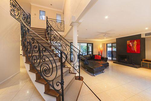 A stunning Mediterranean inspired staircase.