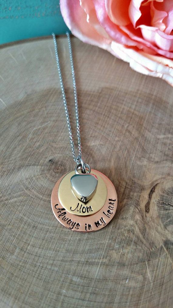Cremation Urn memorial necklace urn jewelry cremation by Love1Oak