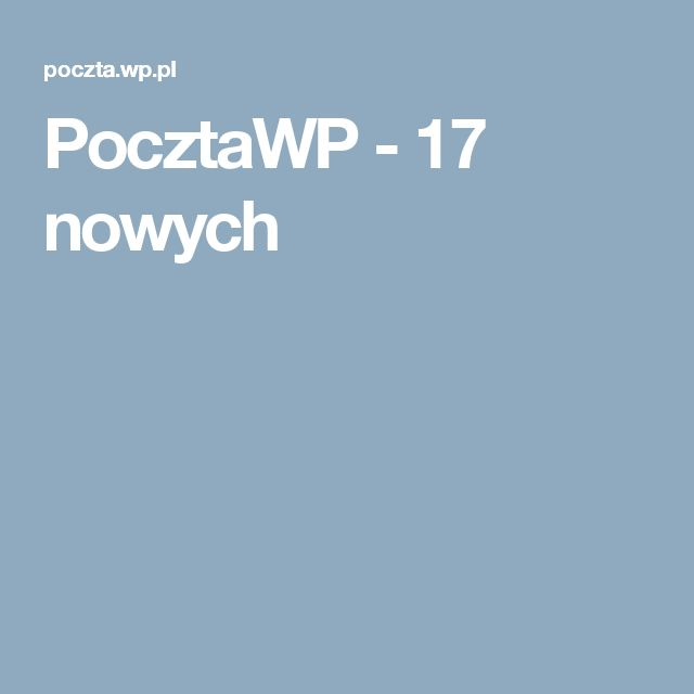 PocztaWP - 17 nowych