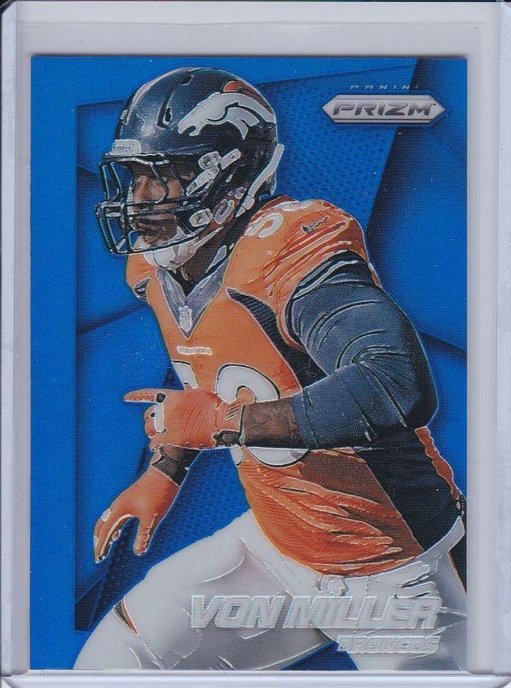 2014 Panini Prizm Denvor Broncos Von Miller Blue Refractor Trading card #DenverBroncos