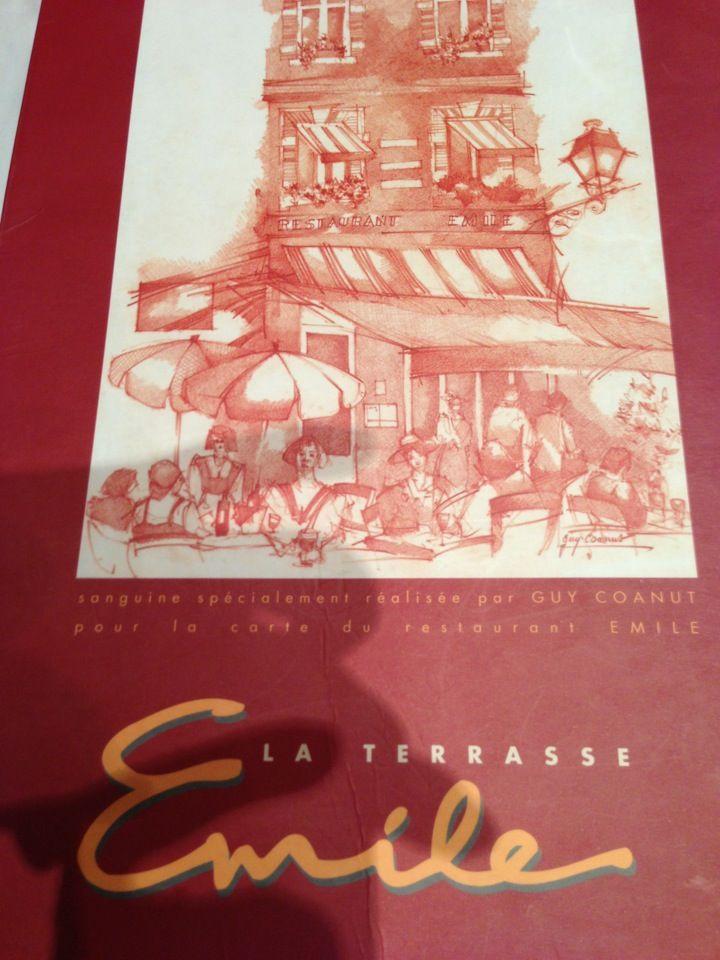 Chez Emile à 15 minutes de l'hôtel.  13 Place Saint-Georges,  31000 Toulouse  Téléphone :05 61 21 05 56