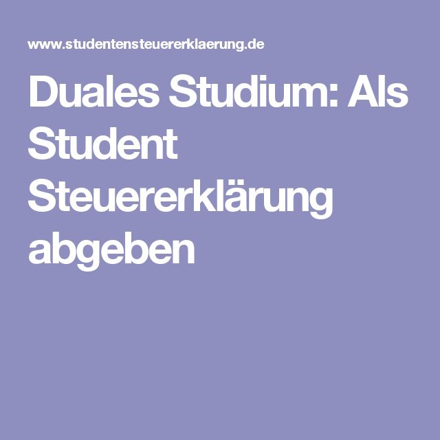 Duales Studium: Als Student Steuererklärung abgeben