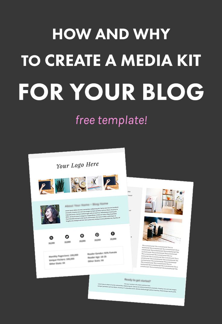 How and Why to Create a Media Kit for Your Blog (FREE TEMPLATE!) | A media kit is an essential tool that every blogger should have. It lists your stats, a profile about your blog, and MORE, which is hugely useful in landing sponsorships with brands. Check out how to create a media kit AND get our free template! | Blogging Tips | Entrepreneur