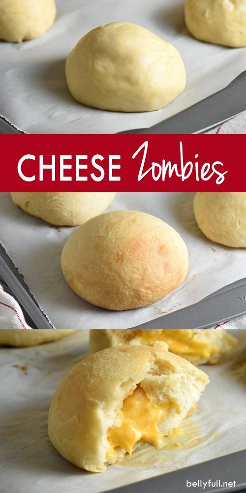 Cheese Zombies are a soft, buttery bread roll filled with gooey, cheesy goodness that will transport you back to your childhood!