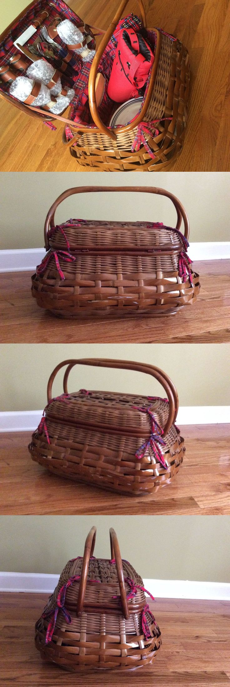 Picnic Baskets and Backpacks 38249: Highlander Picnic Basket Set Perfect For Four Picnic Time -> BUY IT NOW ONLY: $99 on eBay!