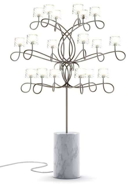 Moooi's latest collection launching in Milan: Inkborn Table Lamp by Marcel Wanders **MARBLE