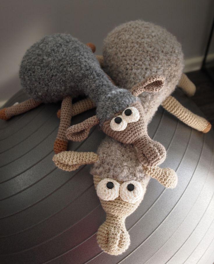 Moutons en tricot. Adorable !