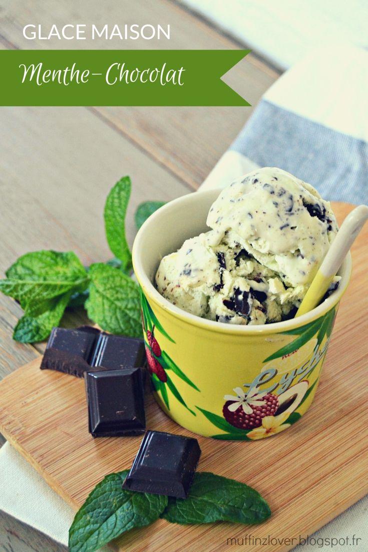 Recette glace maison sans sorbetière, en 5 min !  Parfum Menthe Chocolat- muffinzlover.blogspot.fr