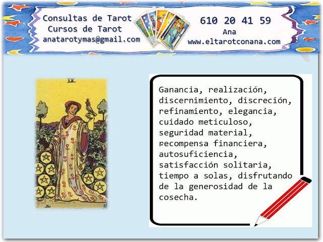 Los Menores Del Tarot Nueve De Oros Tarot Tarot Del Amor Tarot Significado