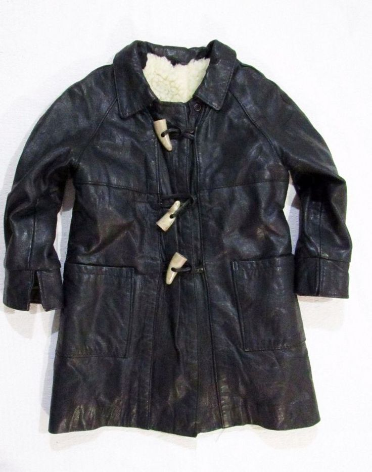 Autentic leather coat for the girl  2 years #Unbranded #Coat #Everyday