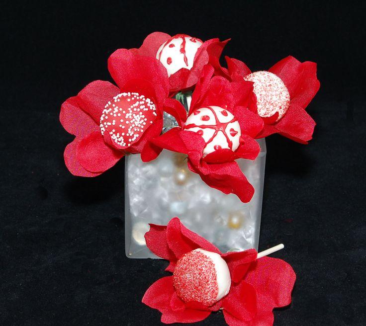 Flowers For Bridal Shower Favors : Flowers cake pops recuerdos para quinceaneras party