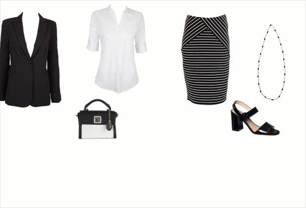 Classic and smart black and white for work created by Mary Gazzard