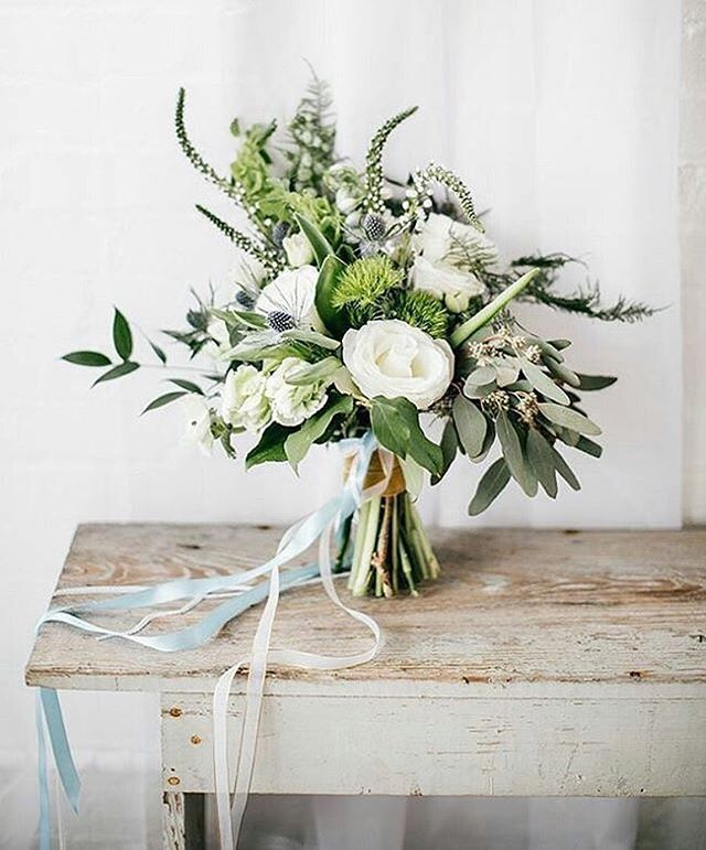 Loving eucalyptus in a bridal bouquet. Are you using any special greens in your bouquet? #bouquet #weddingflowers #weddinginspiration : @ohhappyweddingday