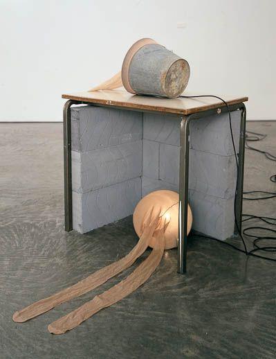 Sarah Lucas, 2005Wood table