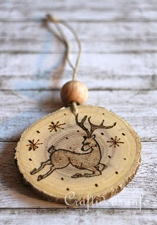 Wood Burned Christmas Ornaments 6