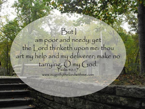 Psalm 40:17 (1611KJV !!!!)